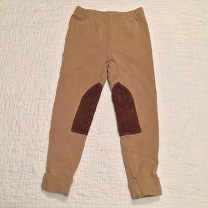 Ralph Lauren tan brown cuffed riding leggings
